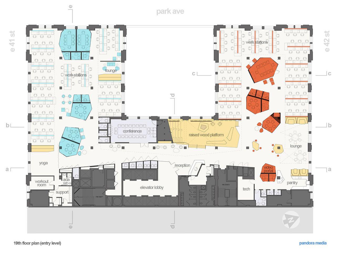 office plan interiors. Simple Office Gallery Of Pandora Media Inc New York Office  ABA Studio  17 With Plan Interiors N