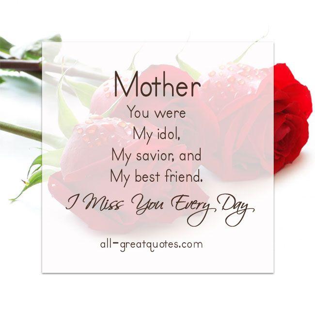 Love You Mommy Quotes Simple Motheryouweremyidolmysaviorandmybestfriend 650×650