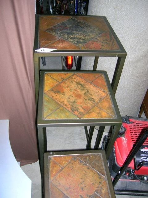 Tile Top Tall Nesting Tables