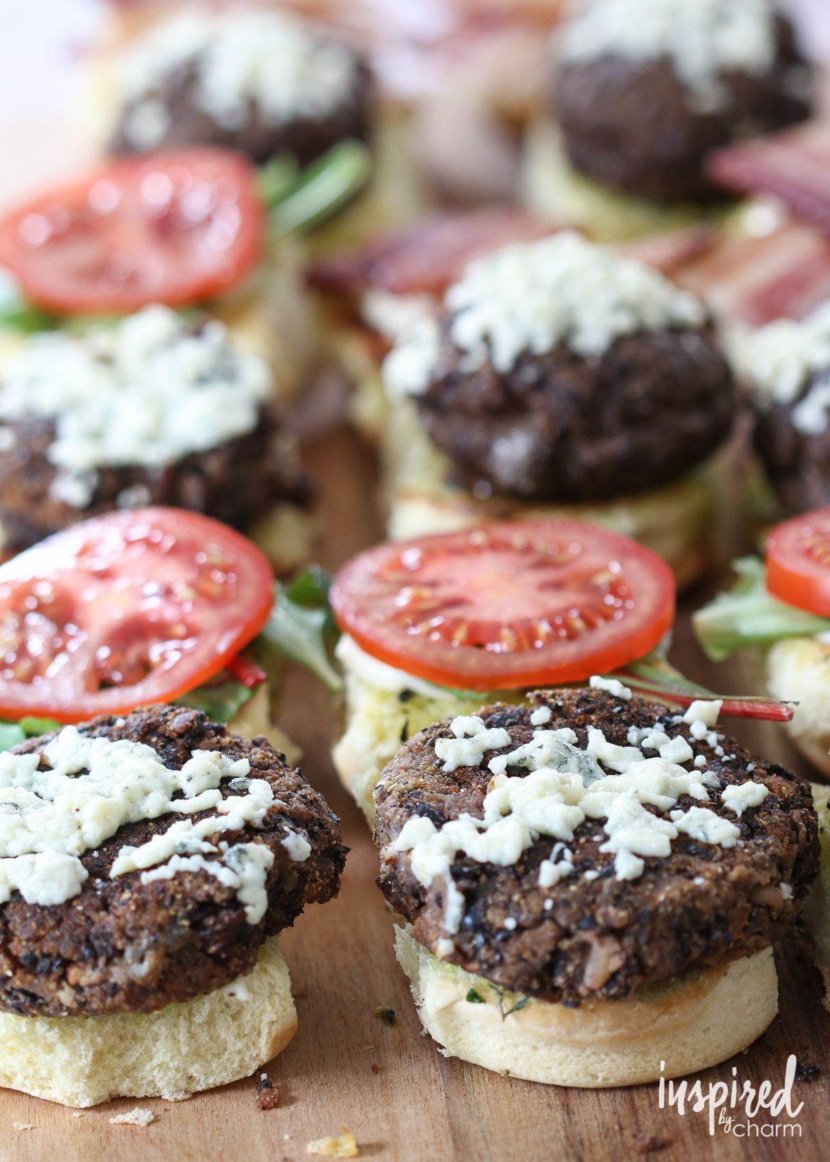 Black and Blue Sliders - burger snack appetizer recipe