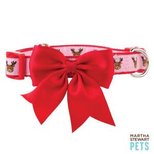 Martha Stewart Pets Reindeer Adjustable Dog Collar Collars Petsmart Martha Stewart Pets Petsmart Dog Collar