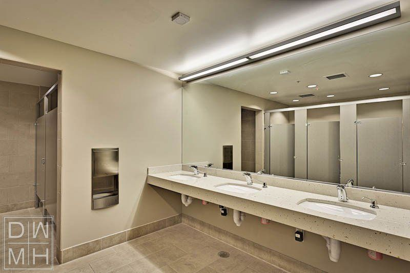 Commercial common areas designworks morgan hill hood for Bathroom design examples