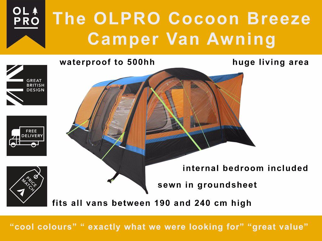 Cocoon Breeze Inflatable Campervan Awning Campervan Awnings Campervan Awning