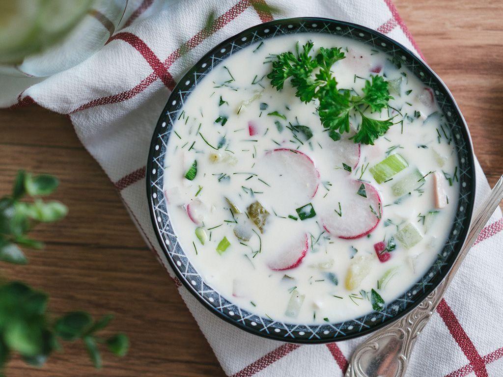 Okroschka - leichte Sommersuppe nach russischer Art - Elena Salewski - Lebensmittelproduktion seit 1998 #okroschkarezept