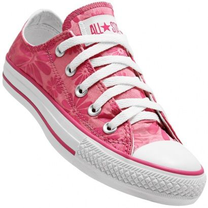 pink floral converse! awesome! (com imagens) | Sapatos