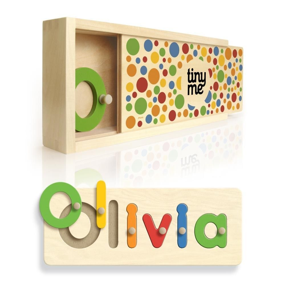 Personalised wooden name puzzle tinyme auntie status personalised wooden name puzzles a gorgeous present for a first birthday educational bright fun and helps them to learn their name negle Image collections