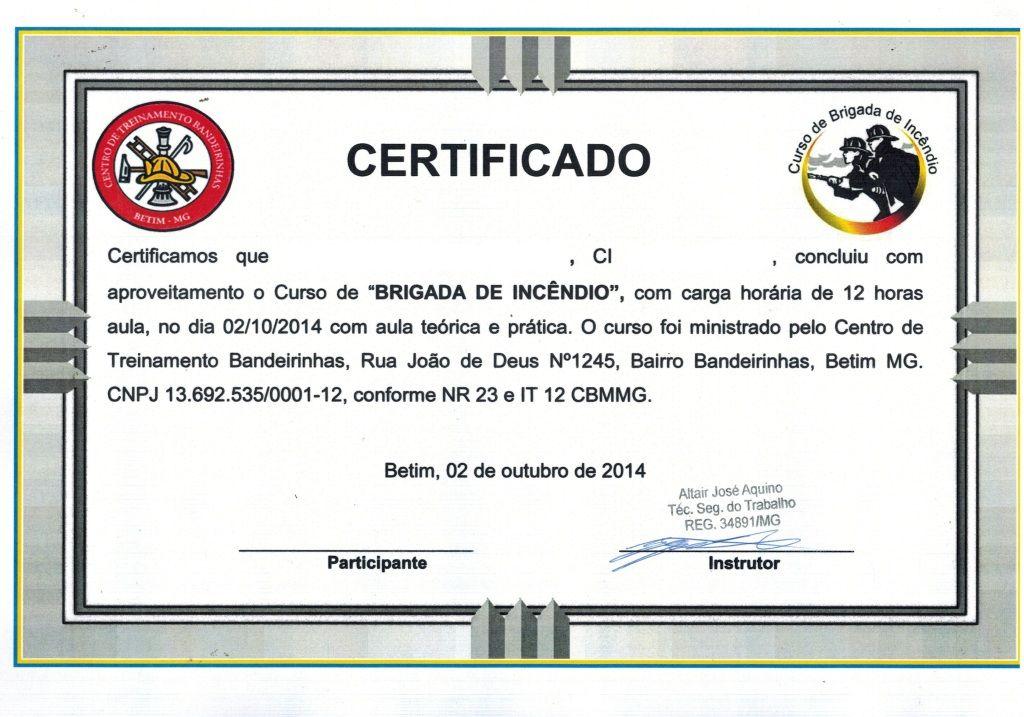 modelo de certificado de brigada - Pesquisa Google CERTIFICADO