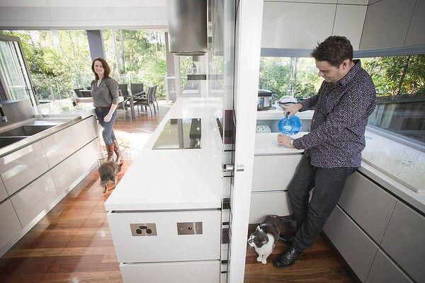 Kitchen Designer Kim Duffin In The Scullery Of His Award Winning Magnificent Kitchen Designer Brisbane Review