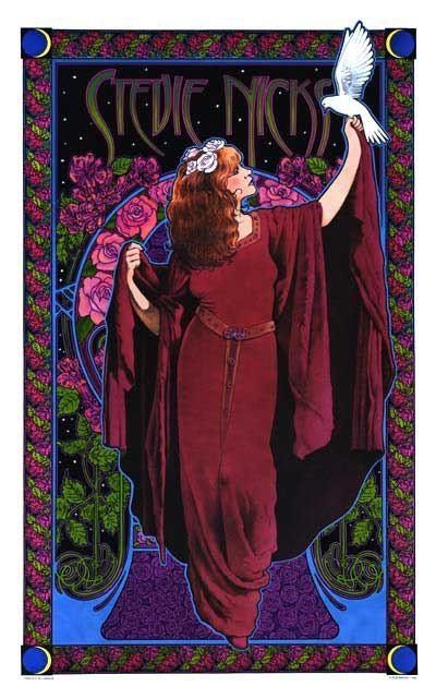 Stevie Nicks Poster Concert Posters Stevie Nicks Art Nouveau Poster
