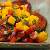 Tequila Lime Chicken with Mango Salsa by Marie Rushdoony Lee