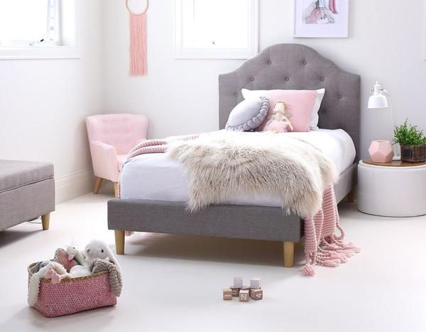 MIA King Single Upholstered Bed | home is in 2019 | Grey ...