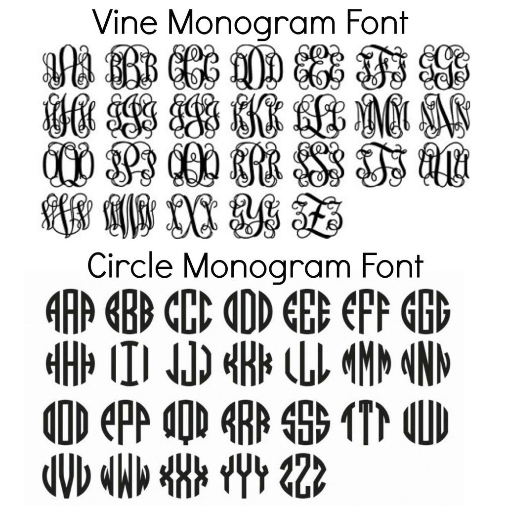 free monogram fonts for personalizing school supplies