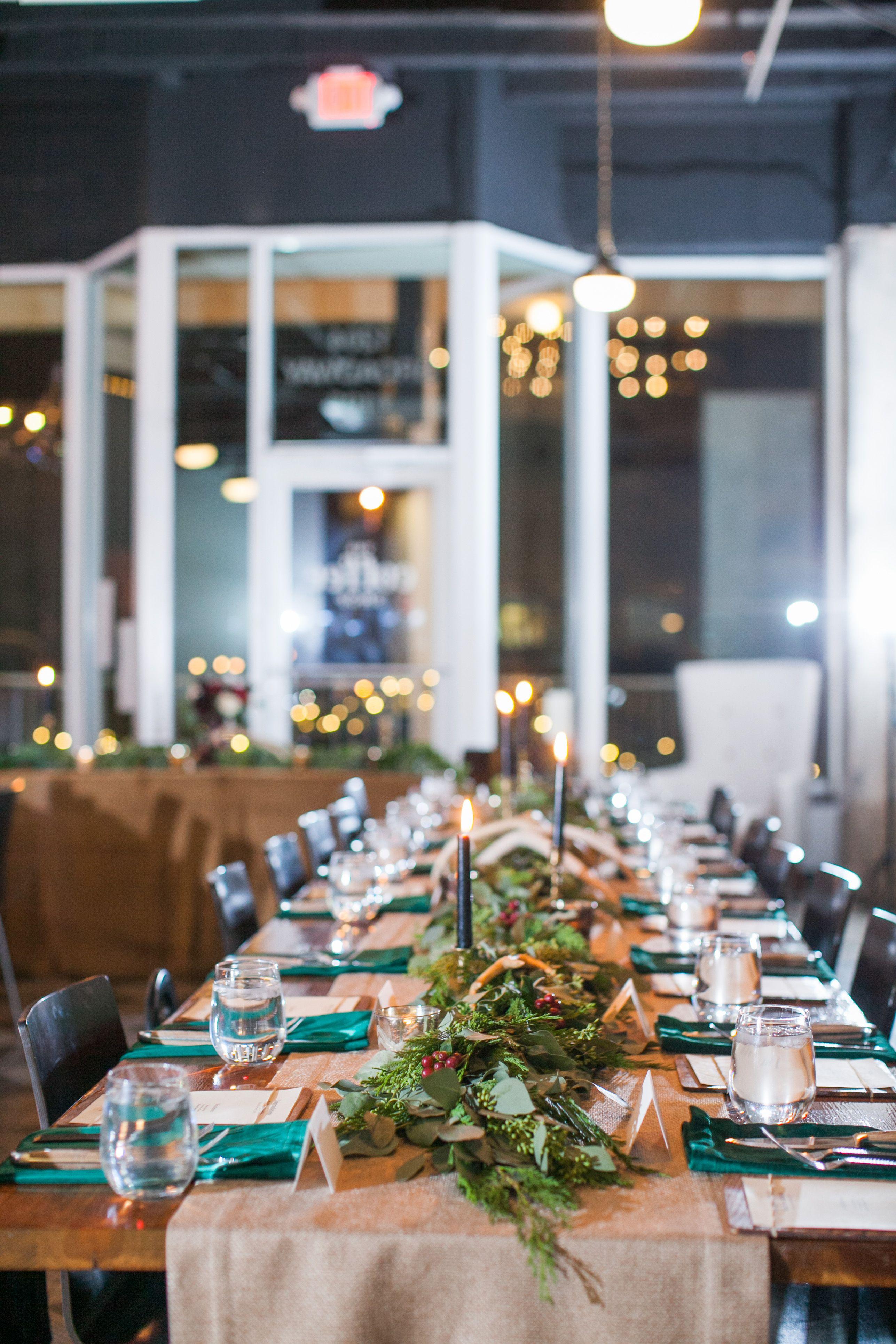 I love lubbock texas wedding vendors green tablescape