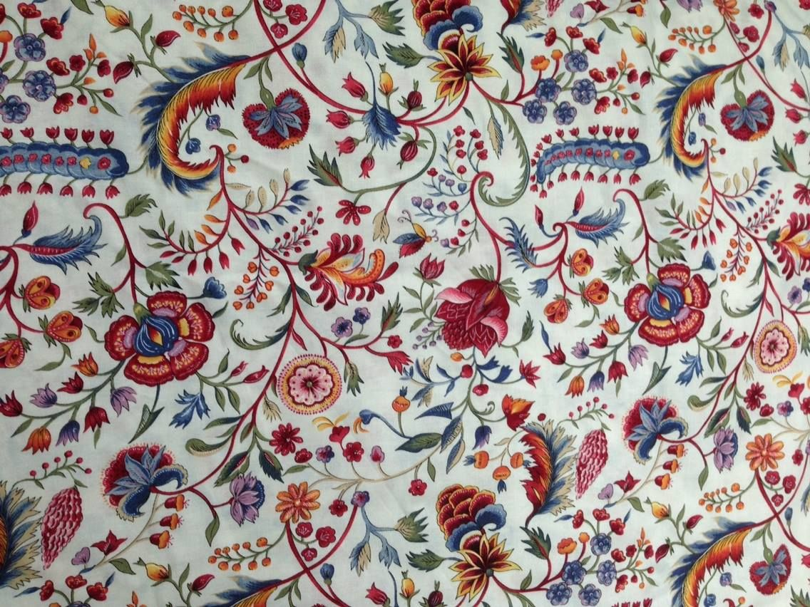 Reproduction From An Original Chintz Dated 1730 1800
