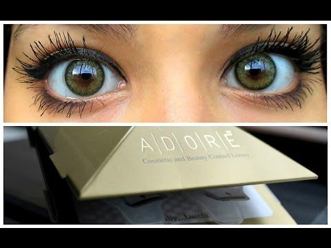 a58fedce48 ADORE Bi-tone yellow colored contacts review - YouTube | breakup to ...