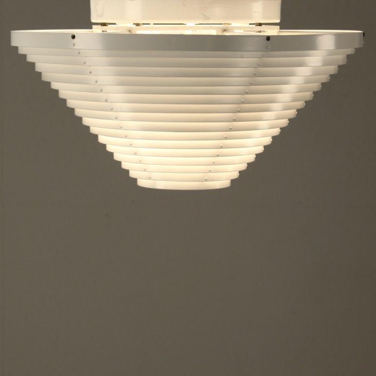 Alvar Aalto A622 Ceiling Light. Rare First Valaistustyö Edition, Finland, 1950s 2