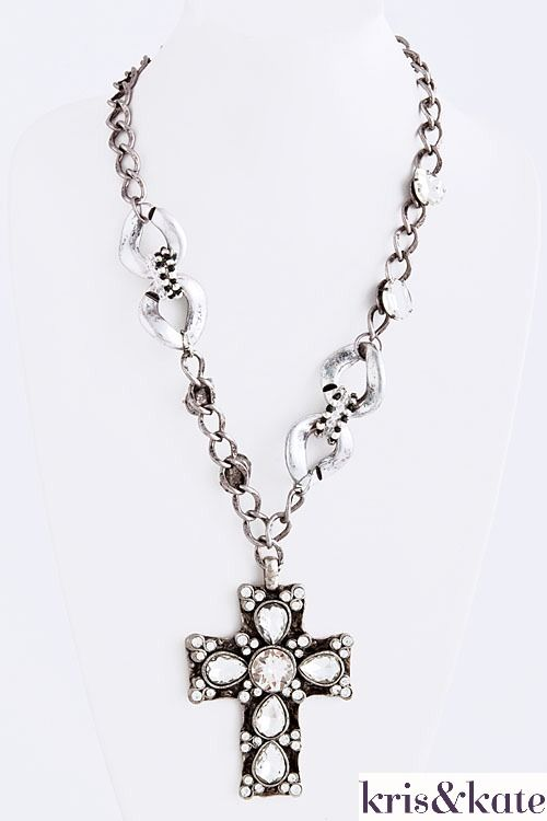 Trendy Cross Pendant! $34  http://www.krisandkate.com/index.php/holiday-gift-guide.html