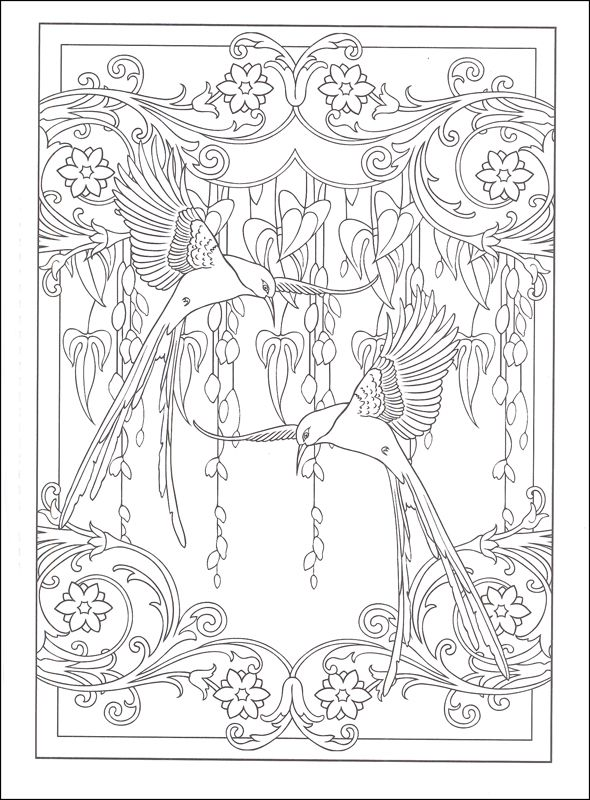 Art Nouveau Animal Designs Coloring Book | Additional Photo (Inside ...