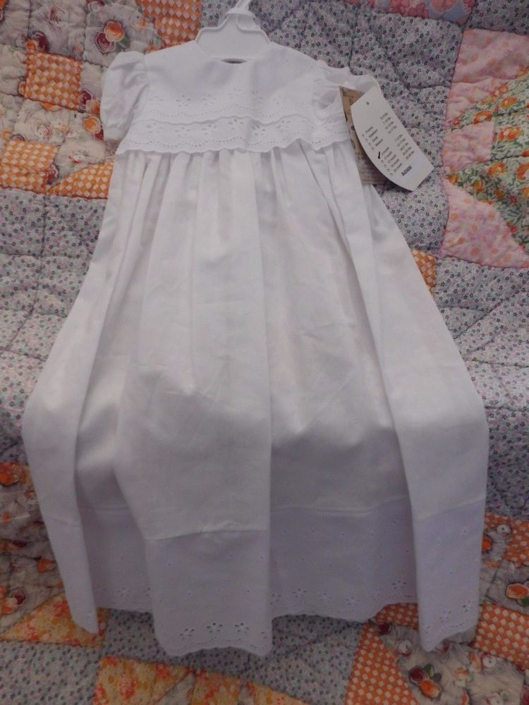 NWT Girls Polycotton Baptism LDS Blessing Gown BJ24GS Factory 2nd #LittleThingsMeanALot #Gown