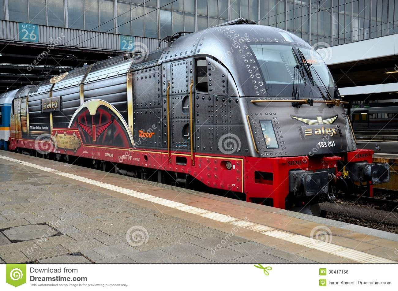 German Electric Train Locomotive Engine Munich Germany Editorial Photo - Image: 30417166