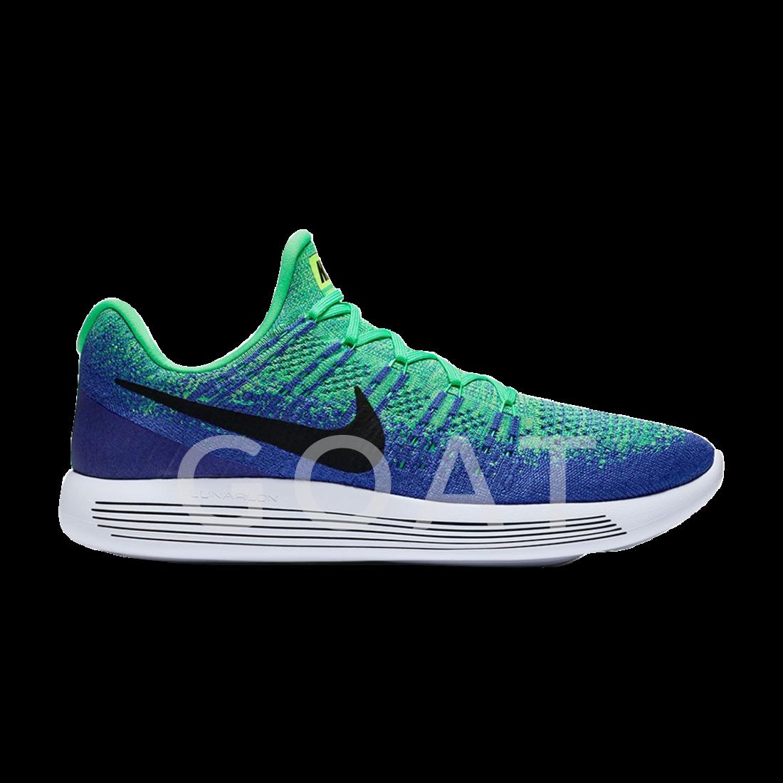 f5c404ac9c85b LunarEpic Low Flyknit 2 - Nike - 863779 301 - electro green black-blue.  GoatsSneakerSlippersSneakersPlimsoll ShoeTrainersGoat