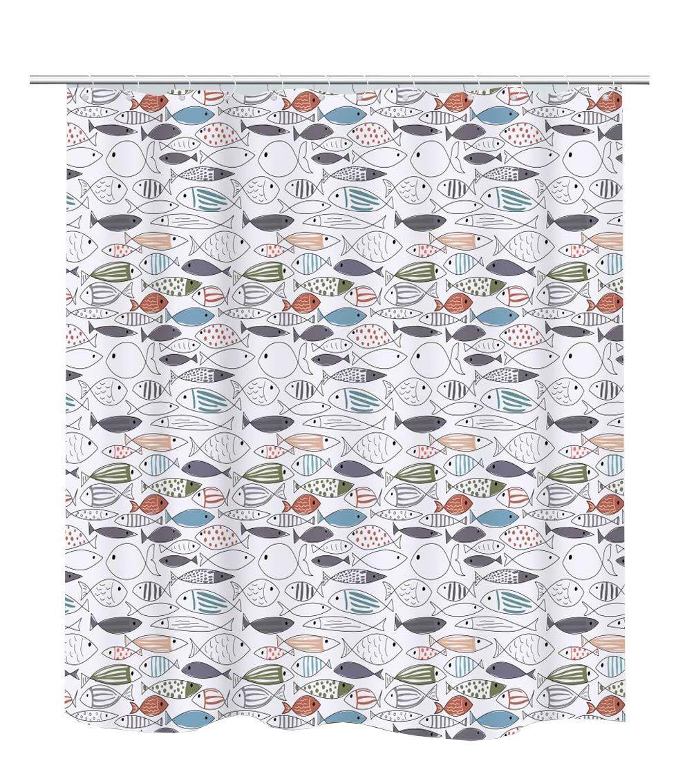 Becan Ocean Animal Modern Multi Color Fish Art Fish Print