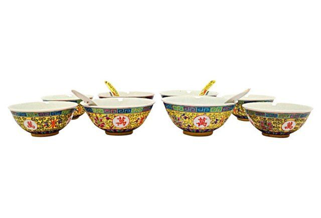 Chinese Soup Set, 12 Pcs