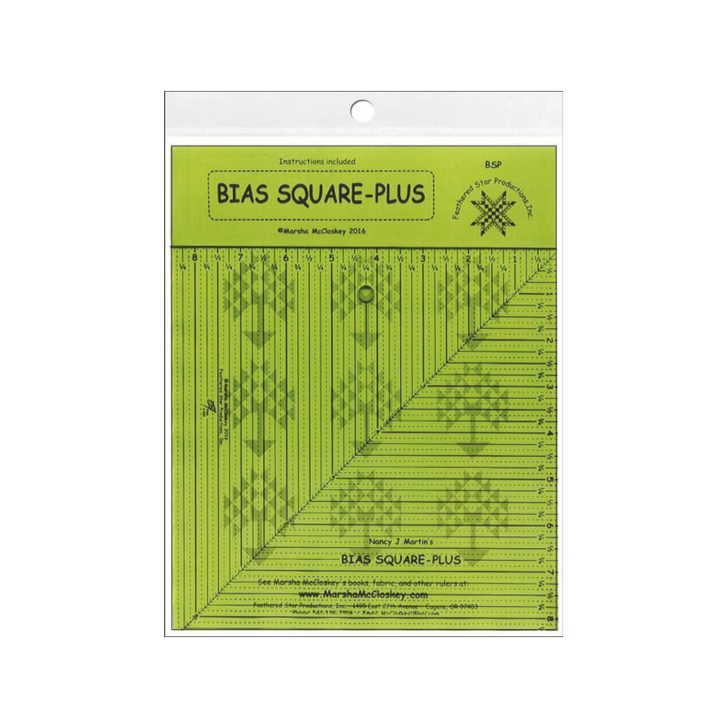 American Feathered Star Ruler Bias Square-Plus