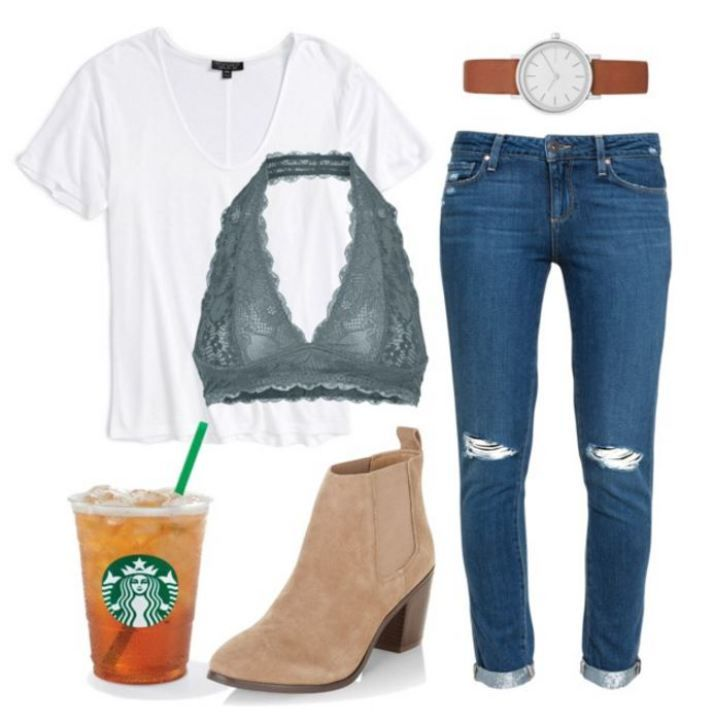 20 First Day Of School Outfit Ideas For College Girls #collegeoutfits