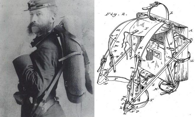 The first external frame backpack was probably patented by Colonel ...