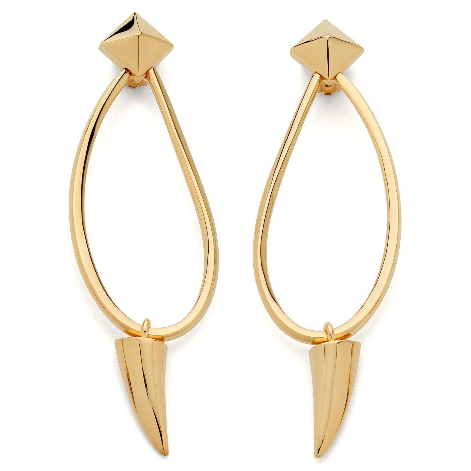 Giuseppe Zanotti Gold metal earrings SHARK nB0Hs