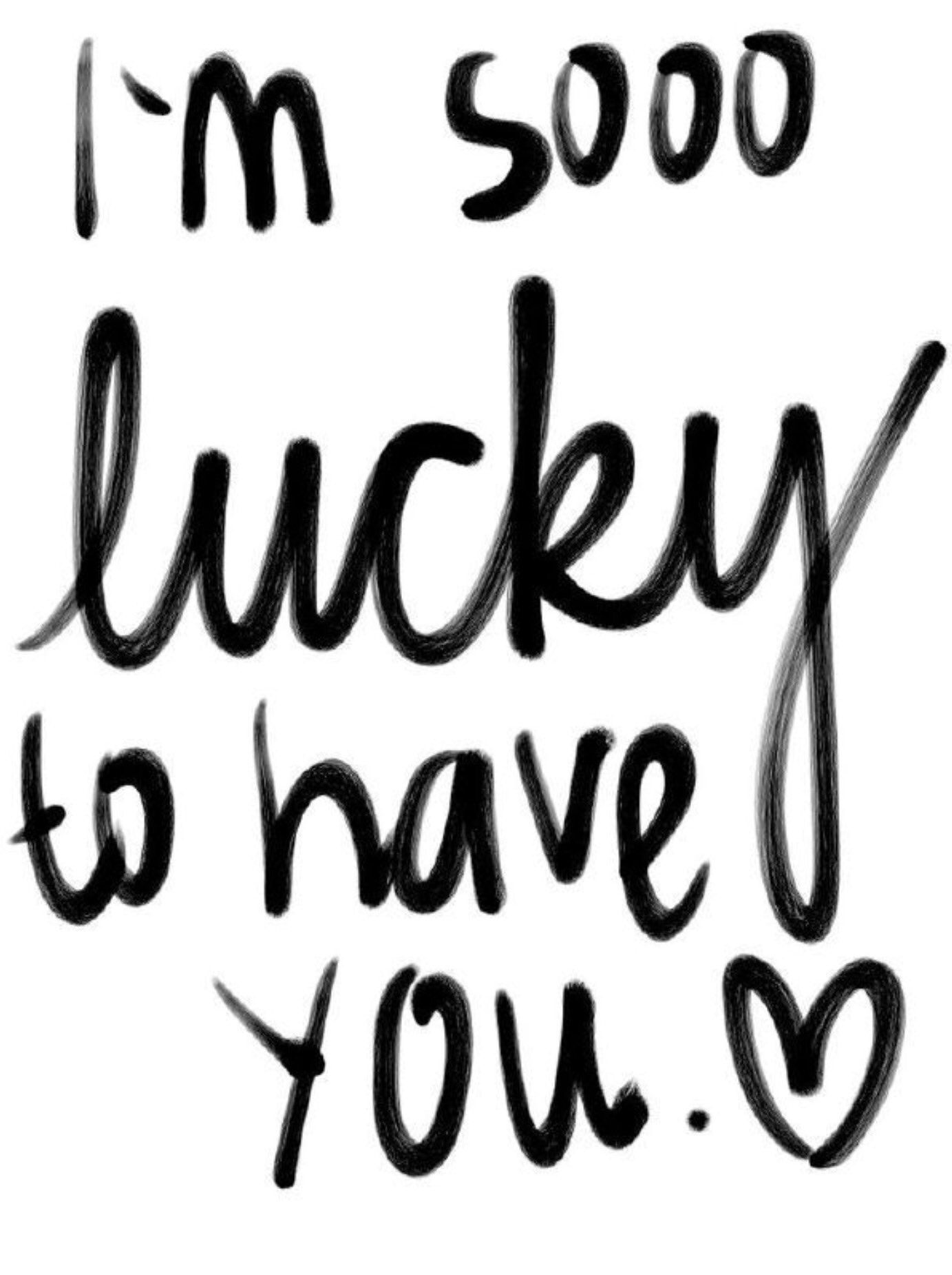 """Love Quotes : QUOTATION – Image : Quotes Of the day – Description Love quote idea – """"I am sooo lucky to have you."""" {Courtesy of Quotes Words Sayings} Sharing is Caring – Don't forget to share this quote !"""