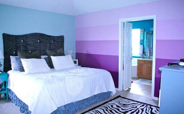 Skinny Meg Ombre Wall Bedroom Wall Paint Blue Wall Decor