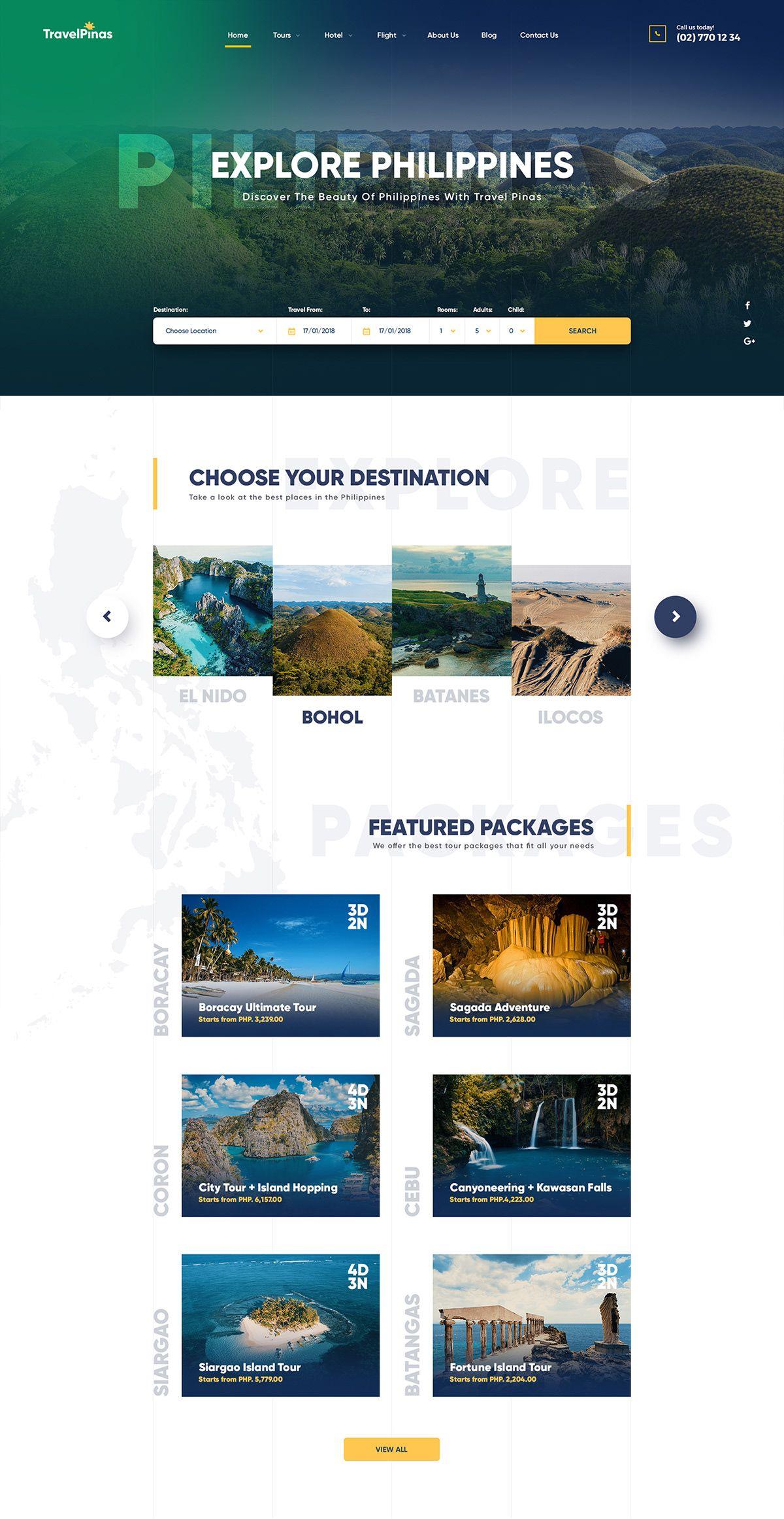 Travel Agency Website >> Travel Agency Web Design Concept On Behance Travel Website