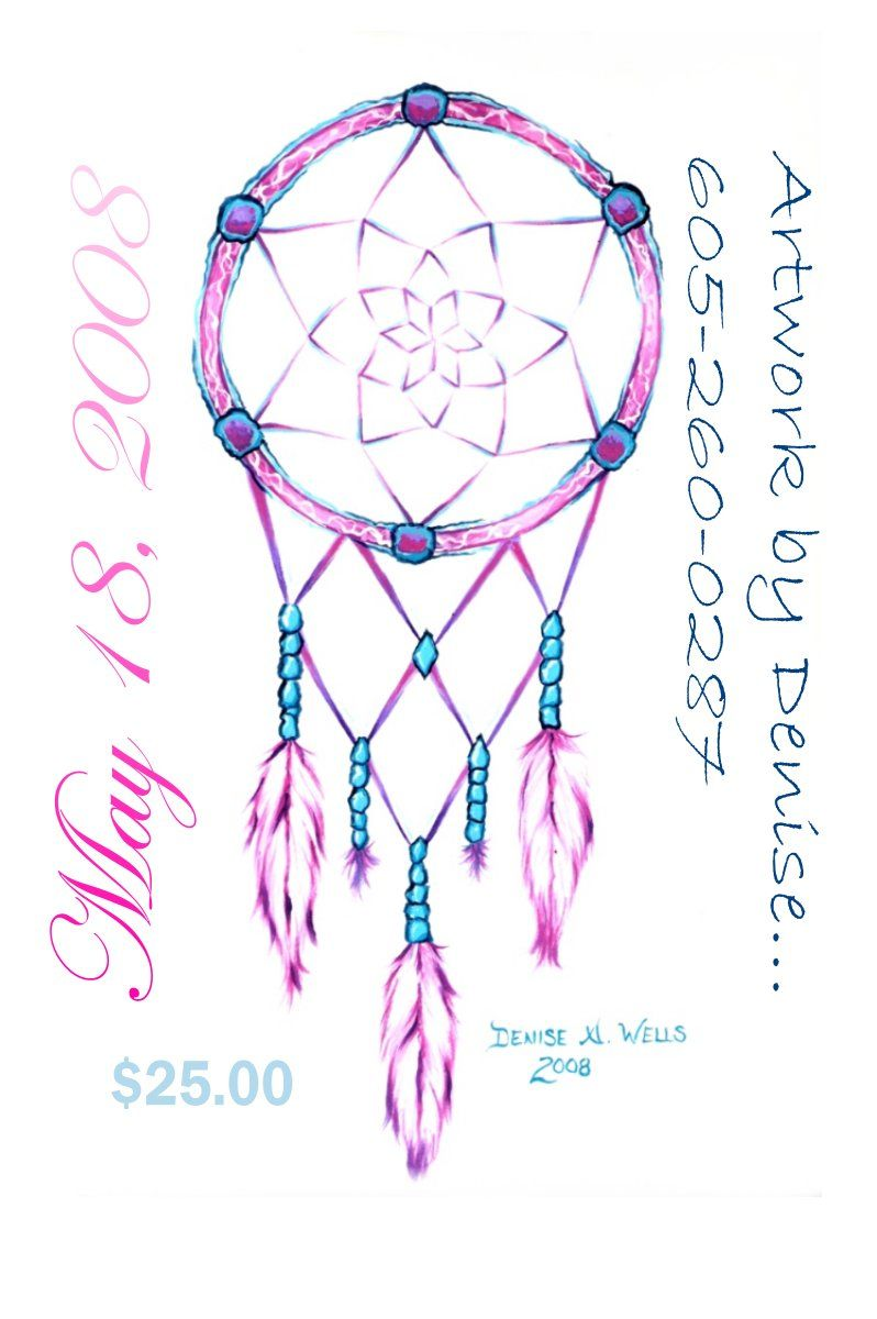 Dream Catcher Drawing Step By Step dream catcher drawings Pink Dreamcatcher by Denise A Wells 22