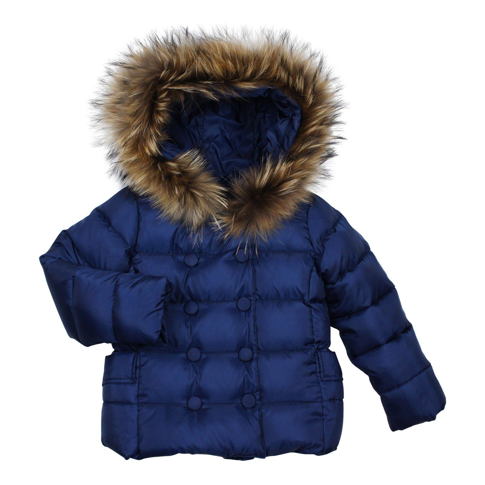 6206780b7 Lili Gaufrette Navy Blue Down Filled Jacket | Holiday Outerwear ...