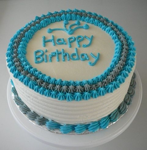 Simple Male Birthday Cake Buttercream Birthday Cake Simple