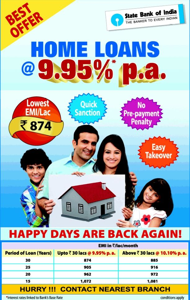 SBI home loans...multiple benefits. Home loans, Loan