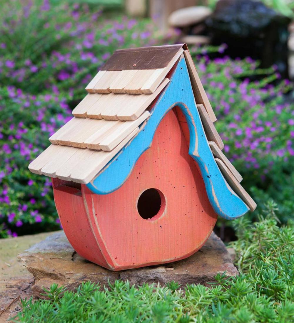 Tweetsie Cypress Birdhouse Orange In 2020 Bird Houses Handmade Birdhouses Warm Color Schemes