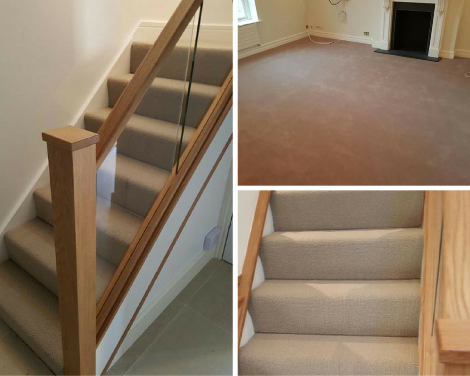 Luxury Grey Carpet Installation To Stairs And Rooms