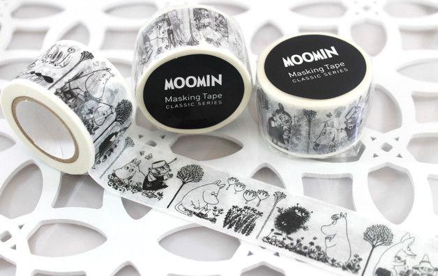 washi tape sample moomin l nge 1 m breite 30 mm die. Black Bedroom Furniture Sets. Home Design Ideas