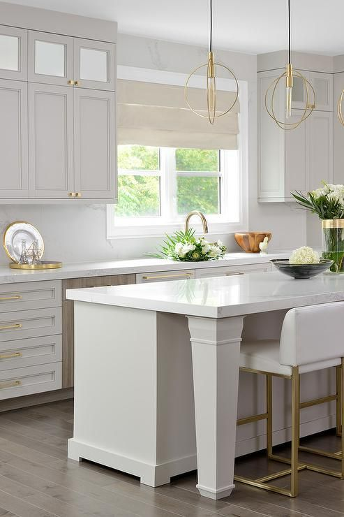 50 favorites for friday my favorite rooms this week brown kitchens grey kitchen cabinets on kitchen cabinets gold hardware id=46994