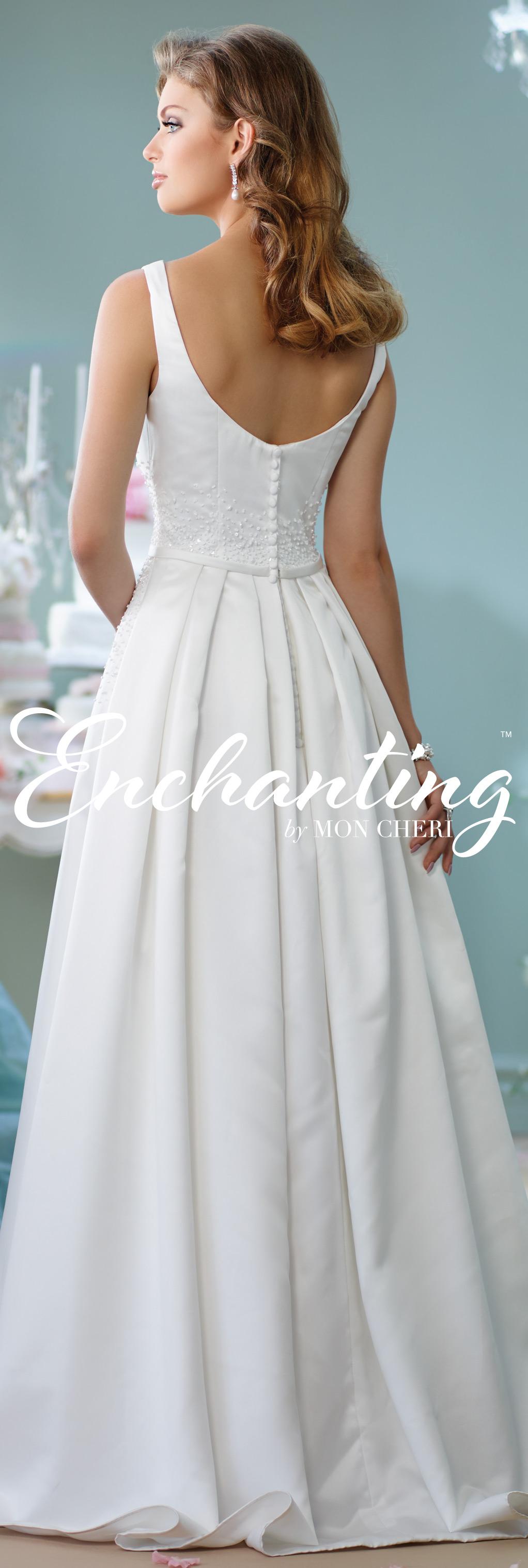 Modern wedding dresses by mon cheri enchanted wedding dress