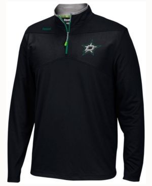 Reebok Men's Dallas Stars Center Ice Quarter Zip Pullover - Black