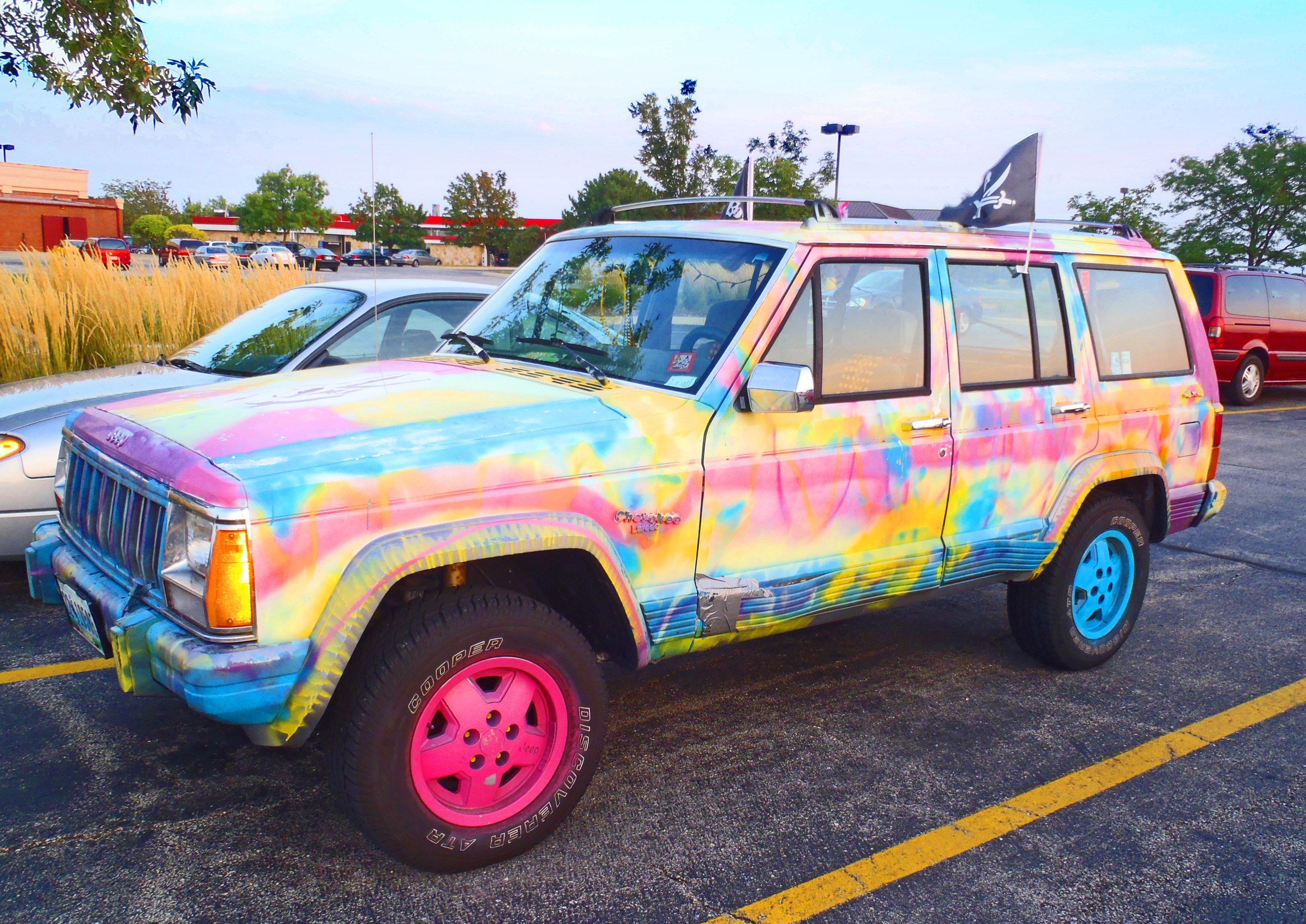 Tie Dye Car I Want This