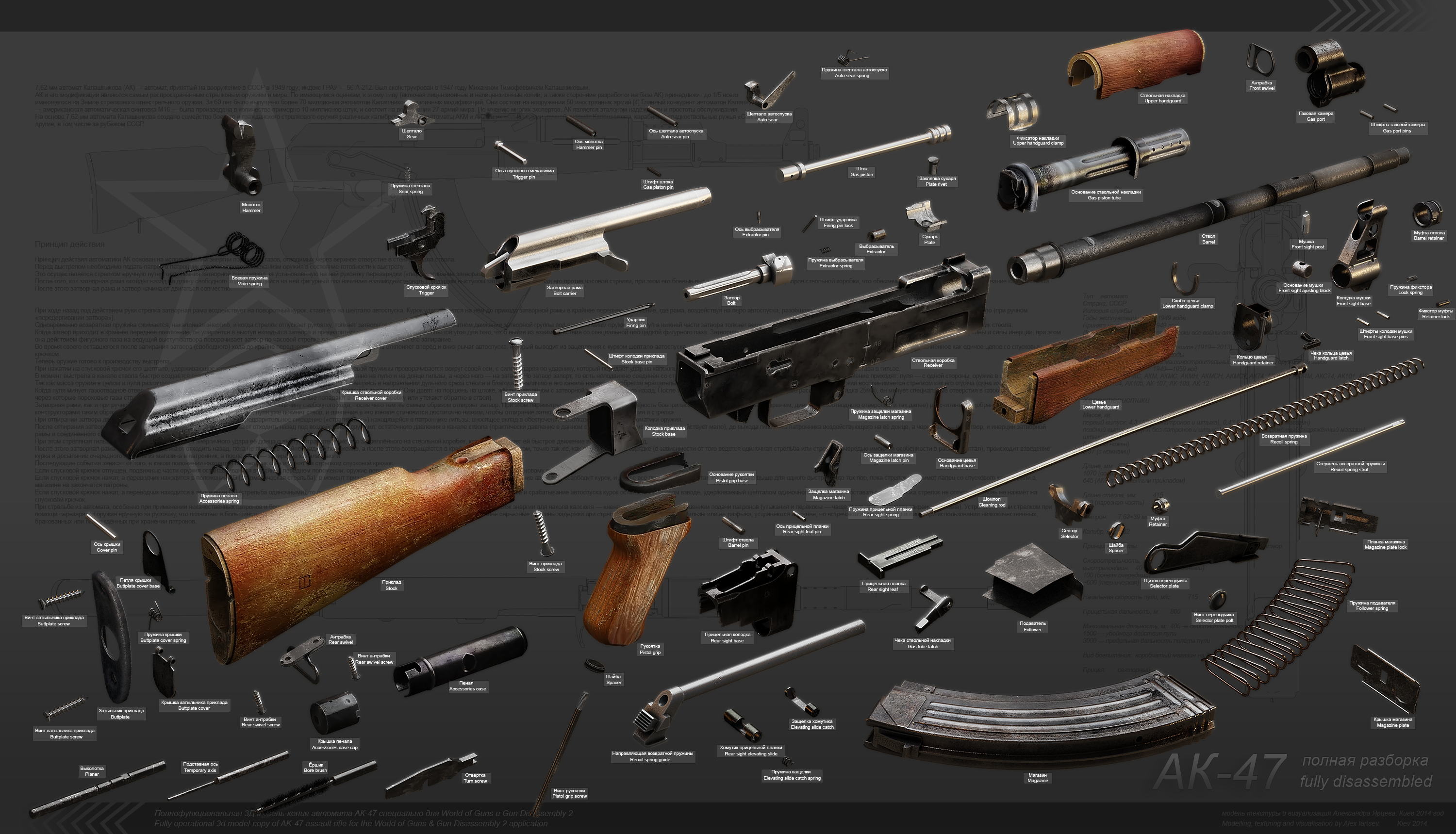 3d ak 47 and search on pinterest : ak 47 diagram - findchart.co