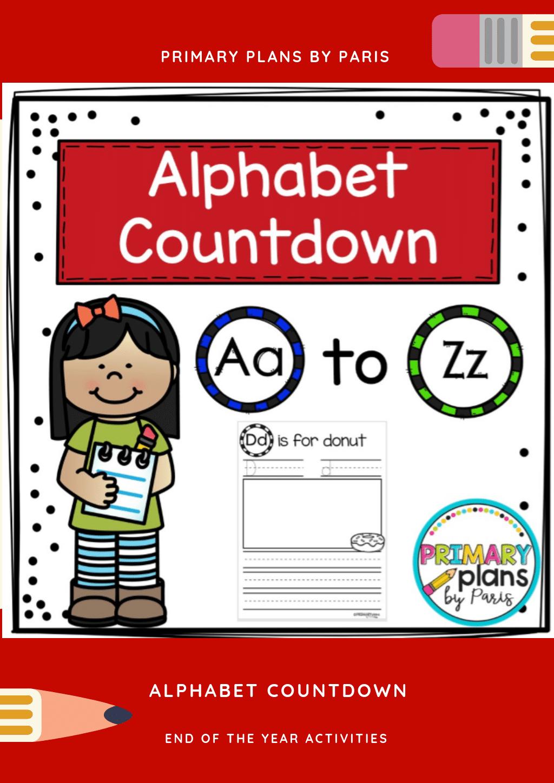Alphabet Countdown Handwriting Worksheets