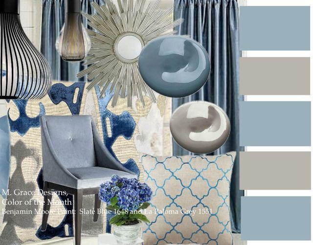 Color Of The Month Blue Living Room Decor Blue Living Room Color Blue Living Room Color Scheme #slate #blue #living #room
