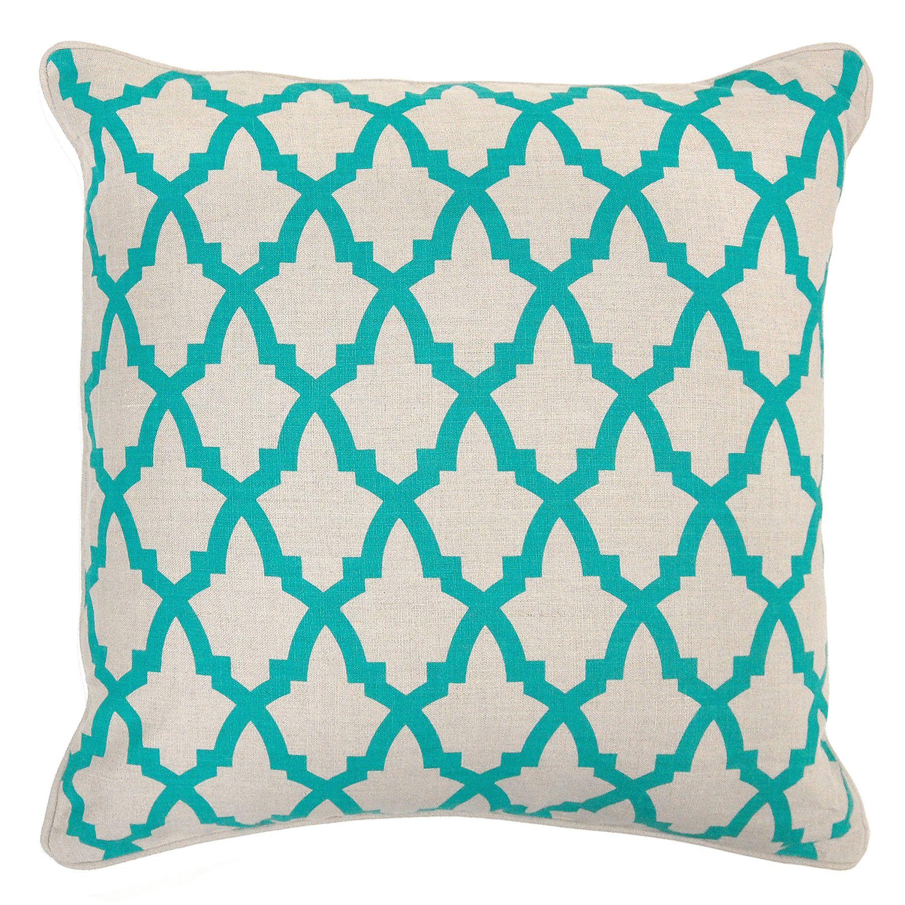 Kosas Collections Valencia Turquoise 22-inch Throw Pillow