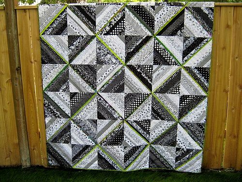 Black, White & Lime Green String Quilt | String quilts, Patchwork ... : lime green quilts - Adamdwight.com